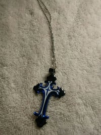 blue and white cross pendant necklace Tucson, 85705