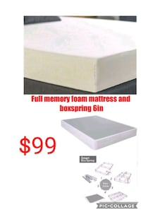 Full memory foam mattress and boxspring  Las Vegas, 89135