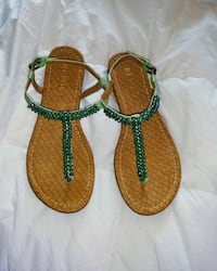 ' Report ' jeweled mint thong sandals Abington, 19001