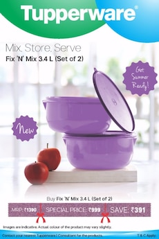 Tupperware Mix Store Serve box