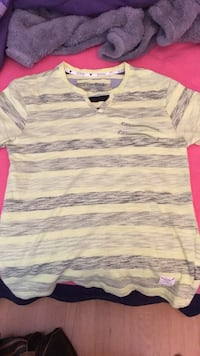gray and black striped polo shirt 3728 km
