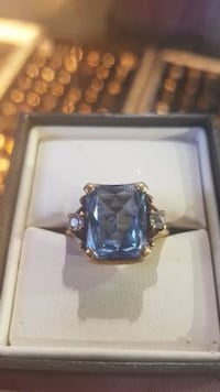 Aquamarine Ring 10k Gold $350 New Westminster, V3M 1E8