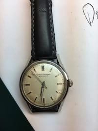 Round white gold color men's watch  New Castle, 19720