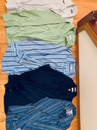 Men's shirts XL or 17 to 17.5 inches, includes Banana Republic