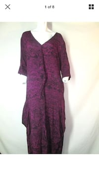 Kaliyana 2 medium dress magenta lagenlook artsy crinkle loose fit Hamilton, L8L 1X4