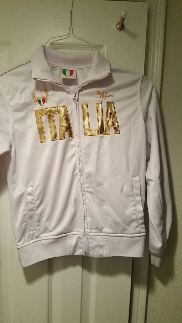 brown and gold italia full zip jacket
