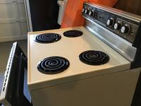 white and black 4-coil electric range oven Connellsville, 15425