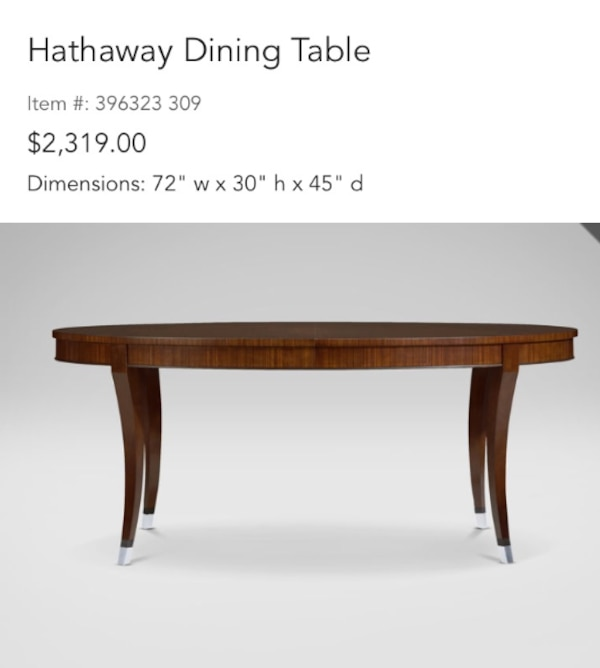 Used Ethan Allen Hathaway Dining Table With 6 Beautiful Coordinating Chairs For In Plainview Ny Usa