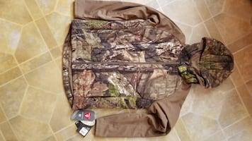 Cabelas Fleece Windsheer T2 Hybrid Jacket