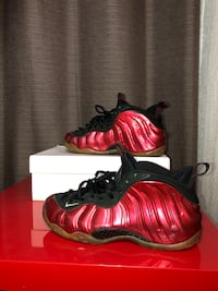 Foamposite Metallic Red