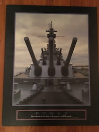 Picture Frame Military Ship-POWER Hackensack