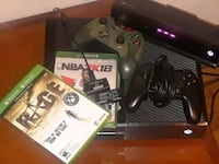 black Xbox One console with controller and game cases New Britain, 06051