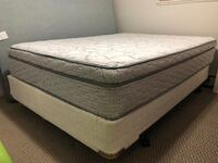 Queen bed frame with box spring and Serta mattress Surrey, V3V 2A5