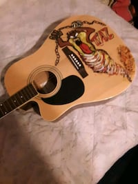 Acoustic guitar custom painted left-handed