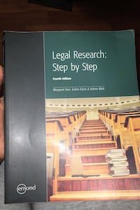Legal Research- Step by Step 4th ED