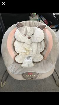 baby's gray and white Fisher-Price bouncer Burnaby, V3N 2S4