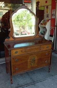 "#18285 Depression Era 46"" Painted Dresser w/Mirror Oakland, 94610"