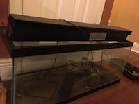 AQUARIUM WITH LID NO PUMP SOLID JUST NEEDS CLEANUP LARGE WITH DECOR New Orleans