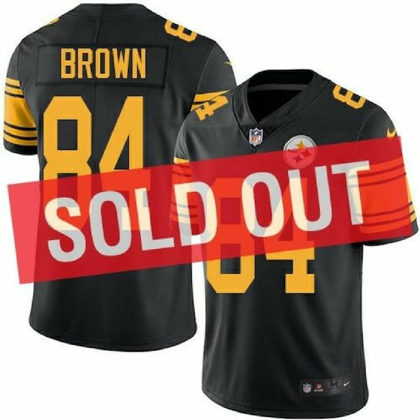 online store a6e7d c09d2 Nike Mens Steelers Antonio Brown Color Rush Jersey