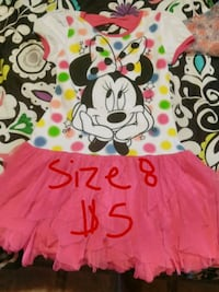 girl's pink and black Minnie Mouse dress Corning, 96021
