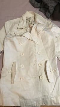 white button-up jacket