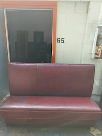 red leather padded sofa Florence, 29505