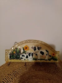 beige, black and yellow cow print wall hook Middleburg, 32068