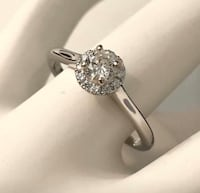 18k white gold Halo diamond engagement ring *Compare at $2,900 Vaughan, L4J