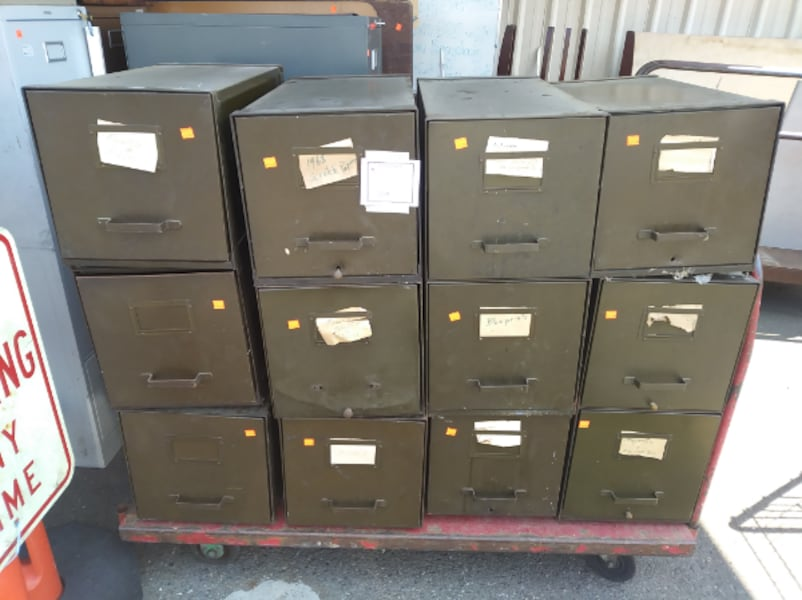 Vintage Military Modular File Cabinets