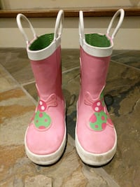 pair of pink-and-white rain boots size 8 Toronto, M5M 1M2