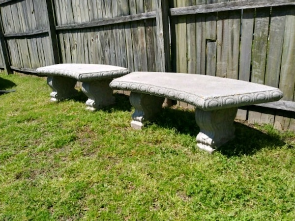 2 Stone Benches