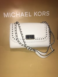 Michael Kors optic white shoulder bag chain  Santa Ana, 92703