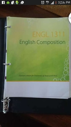 ENGL 1311 English Composition book screenshot