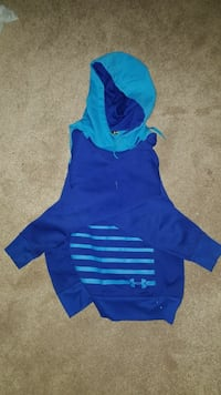blue Under Armour pullover hoodie