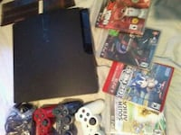 Sony PS3 slim console with controller and game cases Vancouver, V6L 3B4