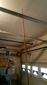 7ft Wooden Vintage Fishing Rod w/ Blue Runner Reel Virginia Beach, 23464