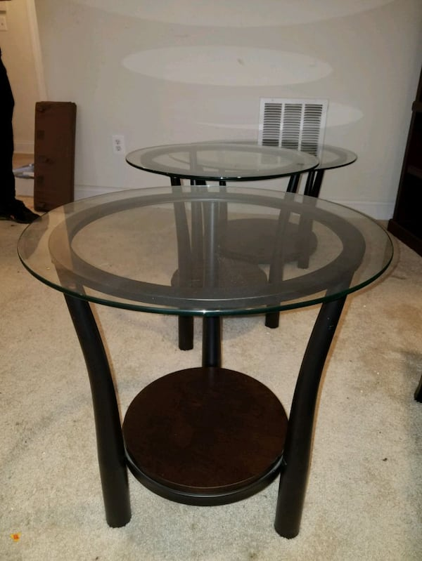 Glass top side and center (coffee) tables - Will deliver (depending on location) if you prefer. 6c4bfa6f-1204-40e5-a80e-18a5857100ff