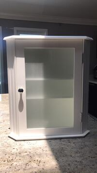 White Corner Wall Cabinet  Savannah, 31410