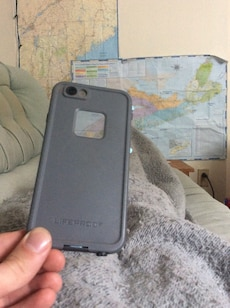 Blue and grey iPhone 6 Plus LIFEPROOF case