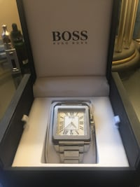 square silver-colored analog watch with link bracelet Toronto, M5V 2A7