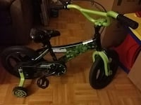 toddler's green and black bicycle with training wheels Ontario, M2R 1X4