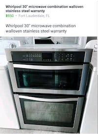 "Whirlpool 30"" convection microwave combination  Fort Lauderdale"