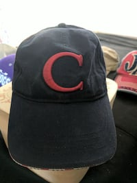 black and red C-embroidered fitted cap Manassas, 20112