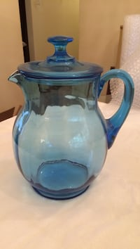 Blue and clear glass pitcher Waldorf, 20601