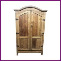 Rustic Armoire With Removable Shelves San Rafael