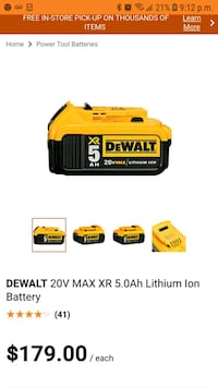 yellow and black DeWalt battery charger screenshot Gatineau, J8P 3E6