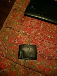 Wallet - black leather with clear ID pocket Columbus, 31901