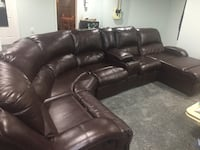 black leather recliner sectional sofa Herndon, 20170