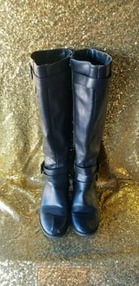 pair of black leather knee-high boots Tempe, 85283