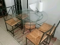 round glass-top table Montreal, H4L 2V5